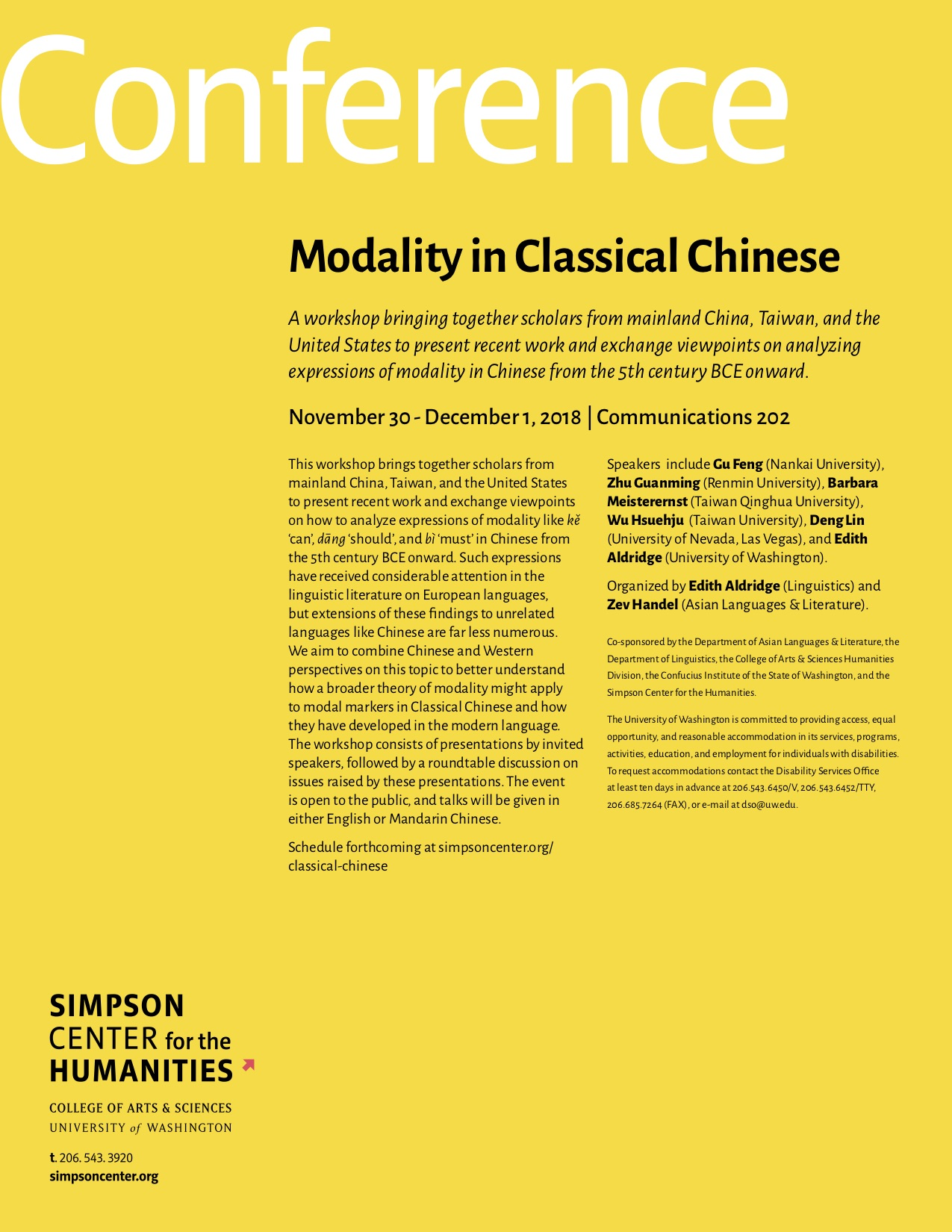 Modality in Classical Chinese poster