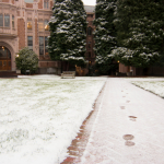 photo of UW campus with snow