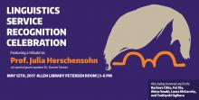 Linguistics Service Recognition Celebration