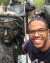 Me at the Rembrandt memorial in Amsterdam