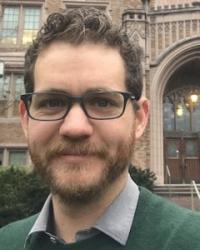 Ryan Georgi in front of Guggenheim Hall