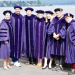 2019 PhD graduates in doctoral regalia at graduation